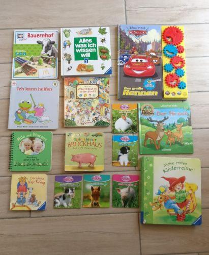 15 (Klein-) Kinderbücher, u.a Brockhaus, Was ist Was, Cars