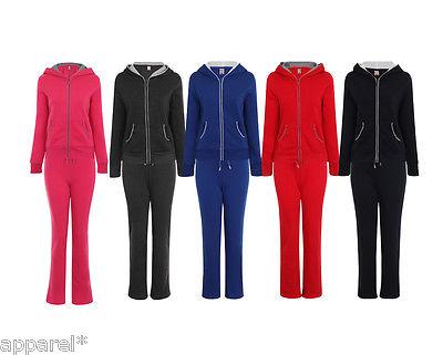 Women's Tracksuit Hoodie Sweatshirt Pants Set Sports Track Suit Gym Ladies Girls