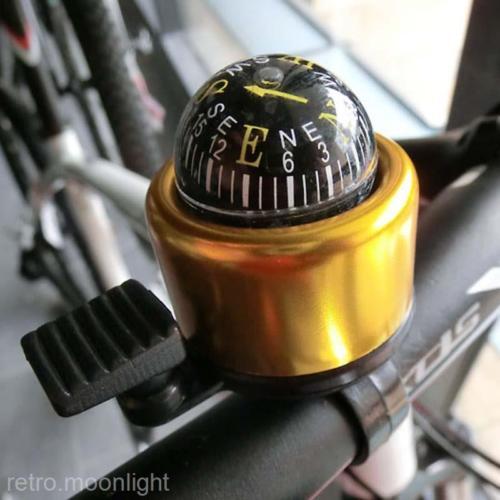 NEU Fahrradglocke Klingel Fahrradklingel Kompaktglocke mit Kompass 6Farbe WähleN