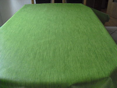 Tischdecke Wachstuch oval 140 cm versch. Längen, Grün (1m=4,99€)