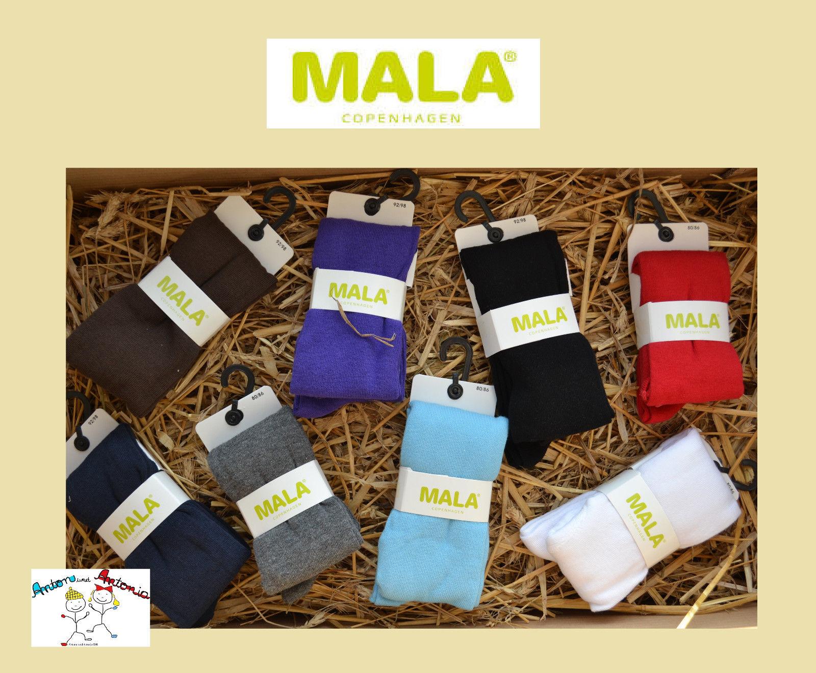 MALA Strumpfhose einfarbig uni unisex viele Farben Ökotex Gr. 80 - 110 *NEU*