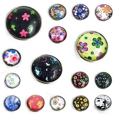 Hippie Flower Blüte Blume Clicks Buttons Wechselschmuck kompatibel mit Chunks