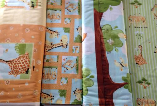 Zoe Giraffe Susybee fabrics height chart pillow panel patchwork material