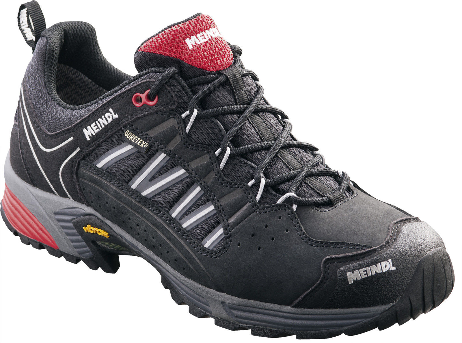 Meindl SX 1.1 GTX Speedhiking Trekkingschuhe schwarz/rot Herren(3060-01) NEUWARE