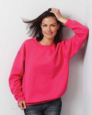 Ladies Classic Plain Sweatshirts Size 6 to 30 / XS to 4XL - NEW SWEATSHIRT 203