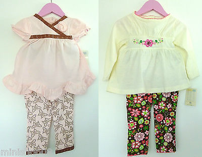 2 tlg. Baby set LA T-Shirt mit Leggings Hose,Shirt,Top,Langarmshirt,74,80,86-98