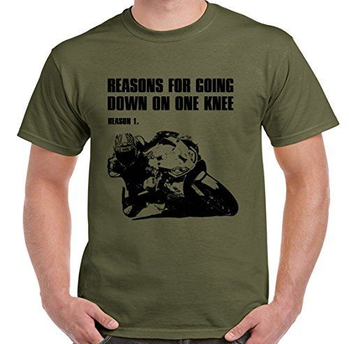 Reasons For Going Down On One Knee Mens Funny Motorbike T-Shirt Biker Motorcycle