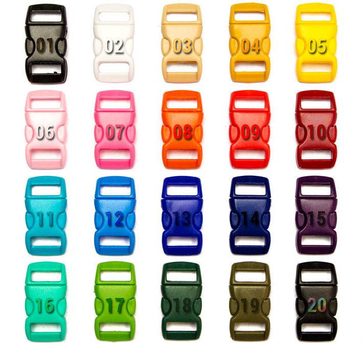10mm Steckschnalle Klickschnallle Klickverschluss Buckles (gebogen) für Paracord