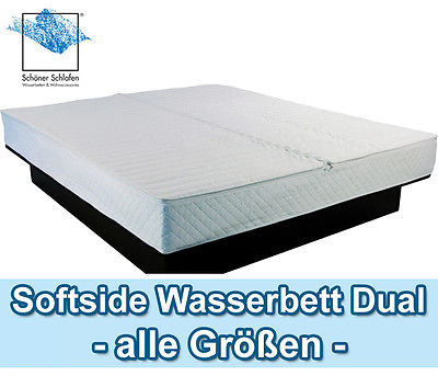 Dual Wasserbett Softside Wasserbetten Calesco T.B.D Carbon - ohne Unterbau -