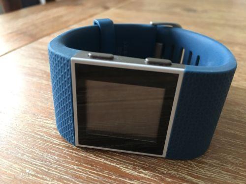 fitbit surge l, Blau, Smartwatch, Fitnessuhr