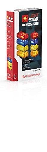 Light Stax S-11005 - Expansion - Zusatzsteine, Baukästen, transparent/rot/orange/gelb/blau,