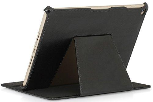 StilGut UltraSlim V2, Hülle mit Standfunktion für Apple iPad Air 2, schwarz vintage