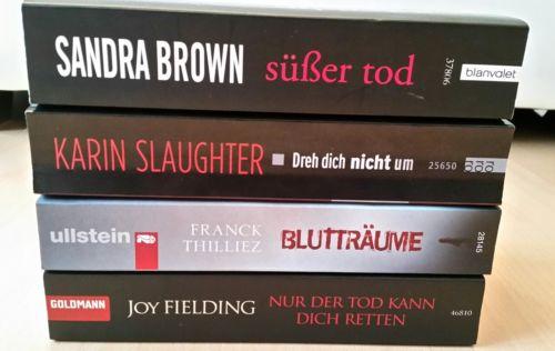 Bücherpaket Thriller - 4 Taschenbücher, Joy Fielding u.a.
