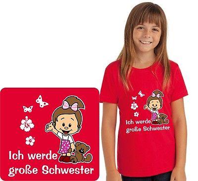 Kinder T-Shirt mit Motiv, Mädchen Ich werde große Schwester, T-Shirt, Neu GGS 06