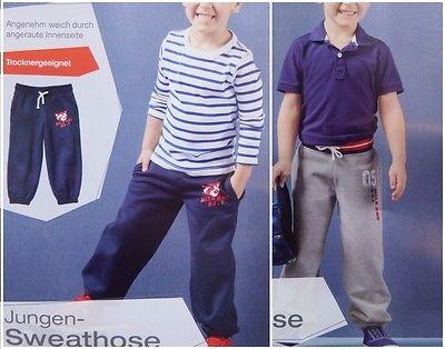 Jungen Sweathose Jogginghose Stoffhose Jogging Hose 86 92 - 110 116 *C082