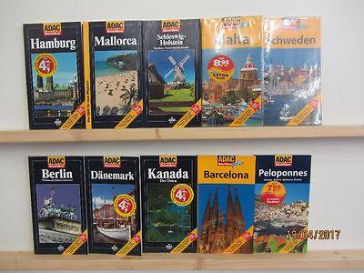 65 Bücher Reiseführer ADAC Reiseführer national und international