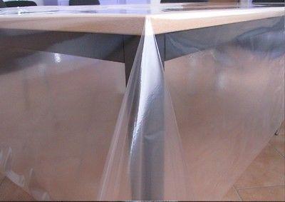 Tischfolie Tischdecke glasklar durchsichtig transparent 0,1/0,2/0,3 mm Stärke