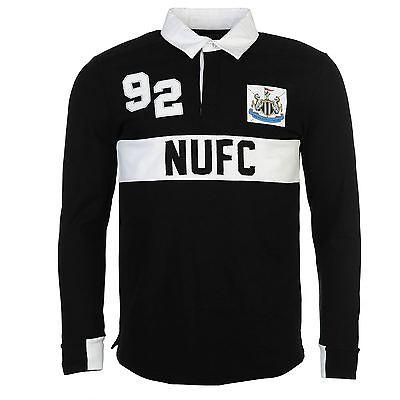 Team Newcastle United Herren Rugby Polo Shirt Freizeit Langarm Polohemd