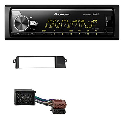 Pioneer MVH-X580DAB MP3 DAB USB Bluetooth AUX Autoradio für BMW 3er E46 (Profiversion, Rundpin)
