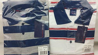 u.s. sport america Herren Kurzarm Polo-Shirt 100% Baumwolle