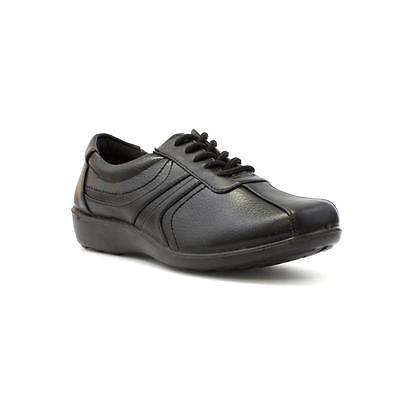Softlites Womens Black Lace Up Comfort Casual Shoe - Sizes 3,4,5,6,7,8,9
