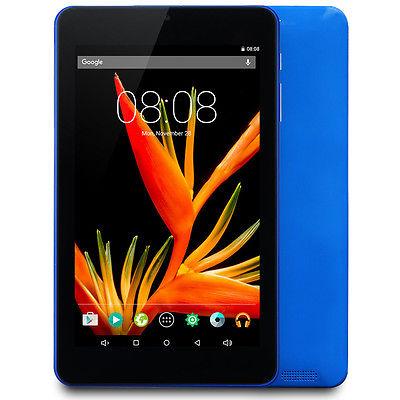 Tablet PC 7 Zoll 16GB Android 5.1 64-Bit Quad Core FHD IPS Display WLAN-Blau
