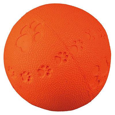 Trixie Hunde Spielball mit Pfotenabdruck, Quietscher, diverse Größen, NEU