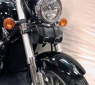 Motorrad Leder Optik Maßgefertigt Schlicht Rundes Werkzeugtasche 21cmx 9cm x14cm