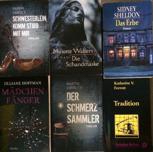 81 Bücher Taschenbücher Thriller Romane Krimis