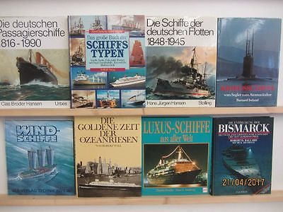 26 Bücher Bildbände Schiffe Schifffahrt Schiffstypen Segelschiffe Kriegsschiffe