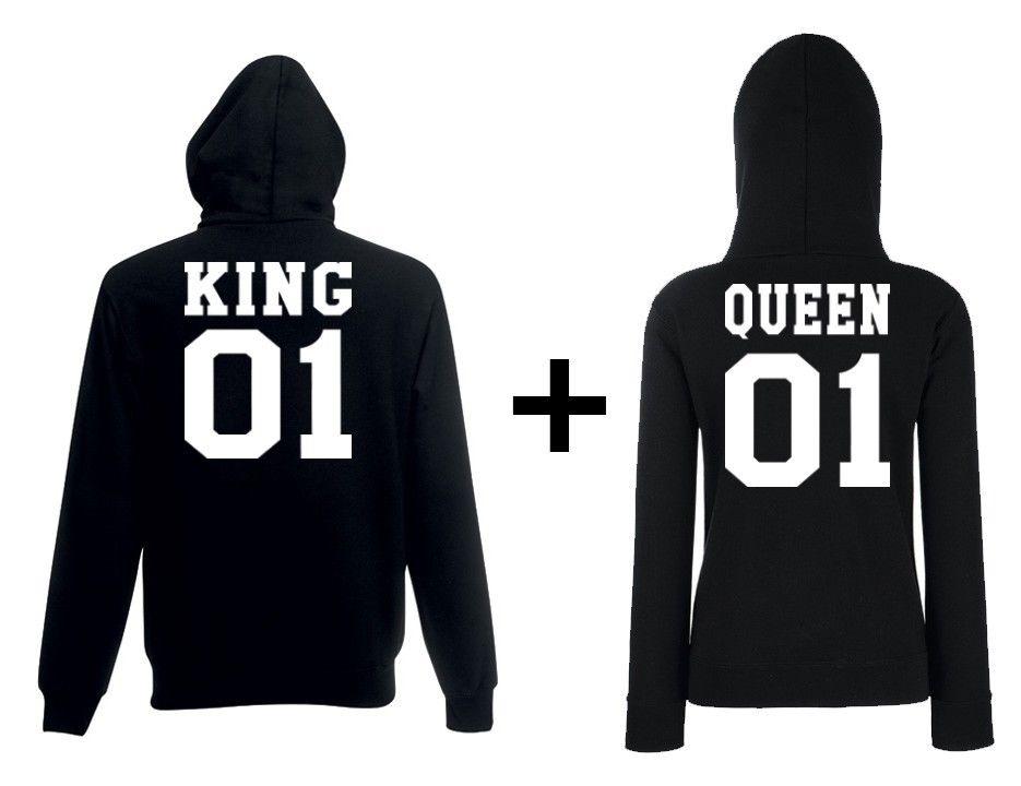 Original Schwarzmarkt Herren u. Damen Hoodie Modell King u. Queen Viele Farben