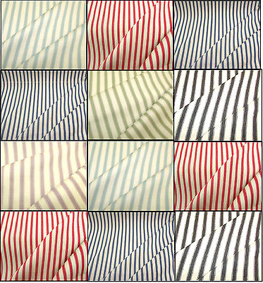 ?Cowes Striped Cotton Designer Curtain - Blue,Lilac,Green,Grey,Red £17.00 mt?