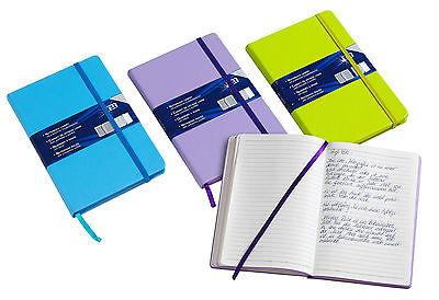 Notizbuch A6 liniert mit Einstecktasche in drei Farben Buch  Notizen  Notiz-Buch