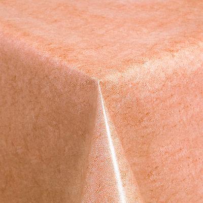 Tischdecke aus Wachstuch abwaschbar Länge wählbar Uni Terrakotta (225-03)