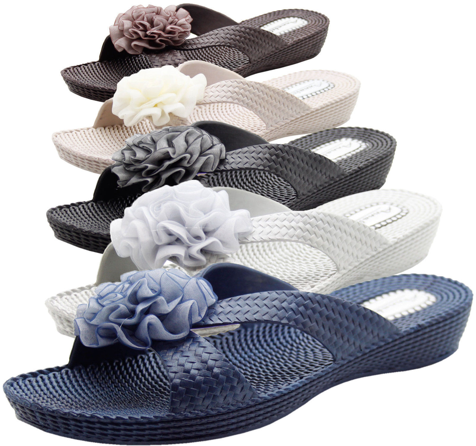 New Ladies Annabelle Beach Women Soft Sole Water Proof Mules Casual Floral Shoes