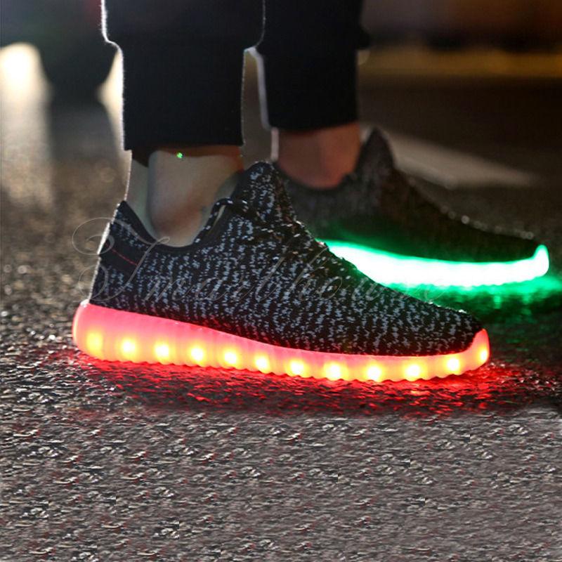 Unisex LED Modelle Shoes Farbwechsel RGBUSB Leuchtschuhe Schuhe Sneakers Schwarz
