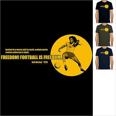Bob Marley Zitat 1979, Jamaica Reggae, T-Shirt, Neu, Fußball, S-XXL