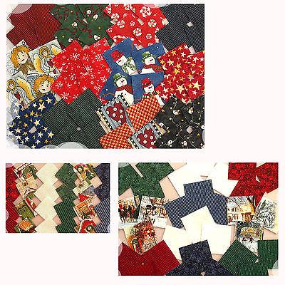 Stoffpakete Precuts Scraps 5x5 cm Patchwork Stoffe Weihnachtsstoffe WEIHNACHTEN