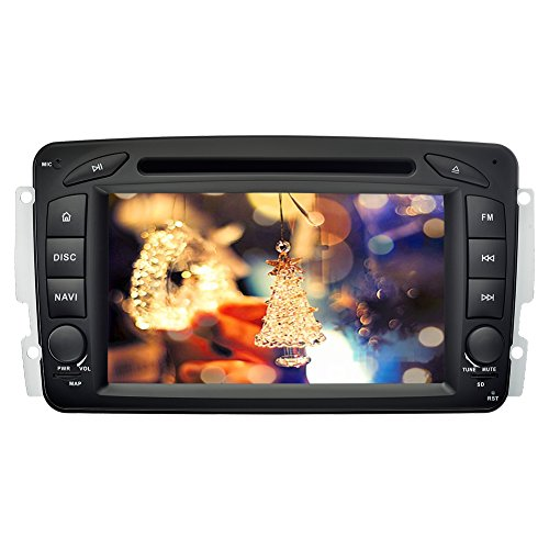 YINUO 7 Zoll 2 Din Android 5.1.1 Lollipop Quad Core Autoradio Moniceiver DVD GPS Navigation Orange Farbe Tastenbeleuchtung Unterstützung DAB / Bluetooth / Lenkrad-Steuerung / AV-IN / 1080P OEM Stecker Canbus für Mercedes-Benz C class W203(2000-2005) / Mer