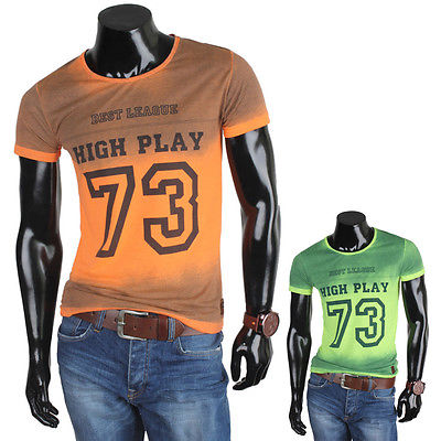 CE & CE Herren T-Shirt 85965 Kurzarm Rundhals Pullover Longsleeve Vintage Neu