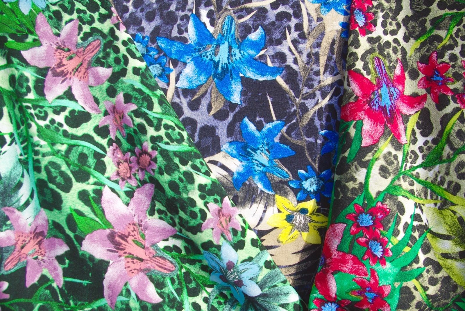 Lily Leopard Print Viscose Fabric