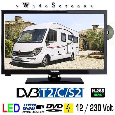 Telefunken L24H274 DVD LED Fernseher 24 Zoll DVB/S/S2/T2/C, USB, 12V 230 Volt