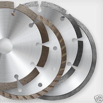 Diamant-Trennscheibe Ø110-230 mm Fliesen Stein Stahlbeton Universal Turbo