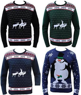 NEW MENS LADIES JUMPER CHRISTMAS RUDE REINDEER NAUGHTY SWEATER S M L XL XXL