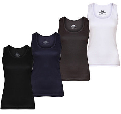 Ladies Gym Vest T-Shirt Tank Top Breathable Racerback  Running Training Fitness