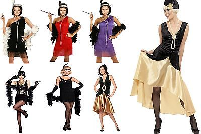 10920's FLAPPER GIRL COSTUME CHARLESTON GATSBY LADIES FANCY DRESS SIZES 6 - 16