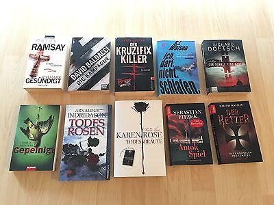Bücherpaket - Thriller - 10 Romane - Rose, Nassise, Baldacci, Fitzek, Carter etc