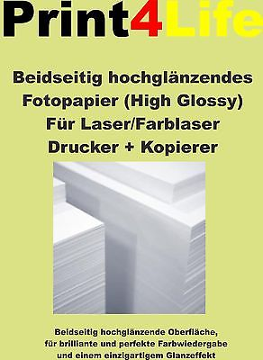 Fotopapier Farb - Laser Drucker Kopierer glossy 2-seitig beschichtet A4 A3 SRA3