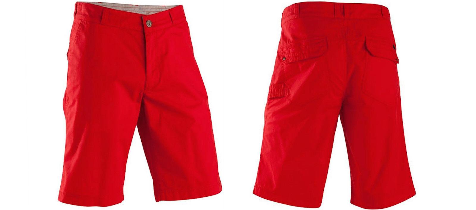 Exclusive Unisex Shorts Bermudas Sporthose Wanderhose, rot, Gr. 38-60