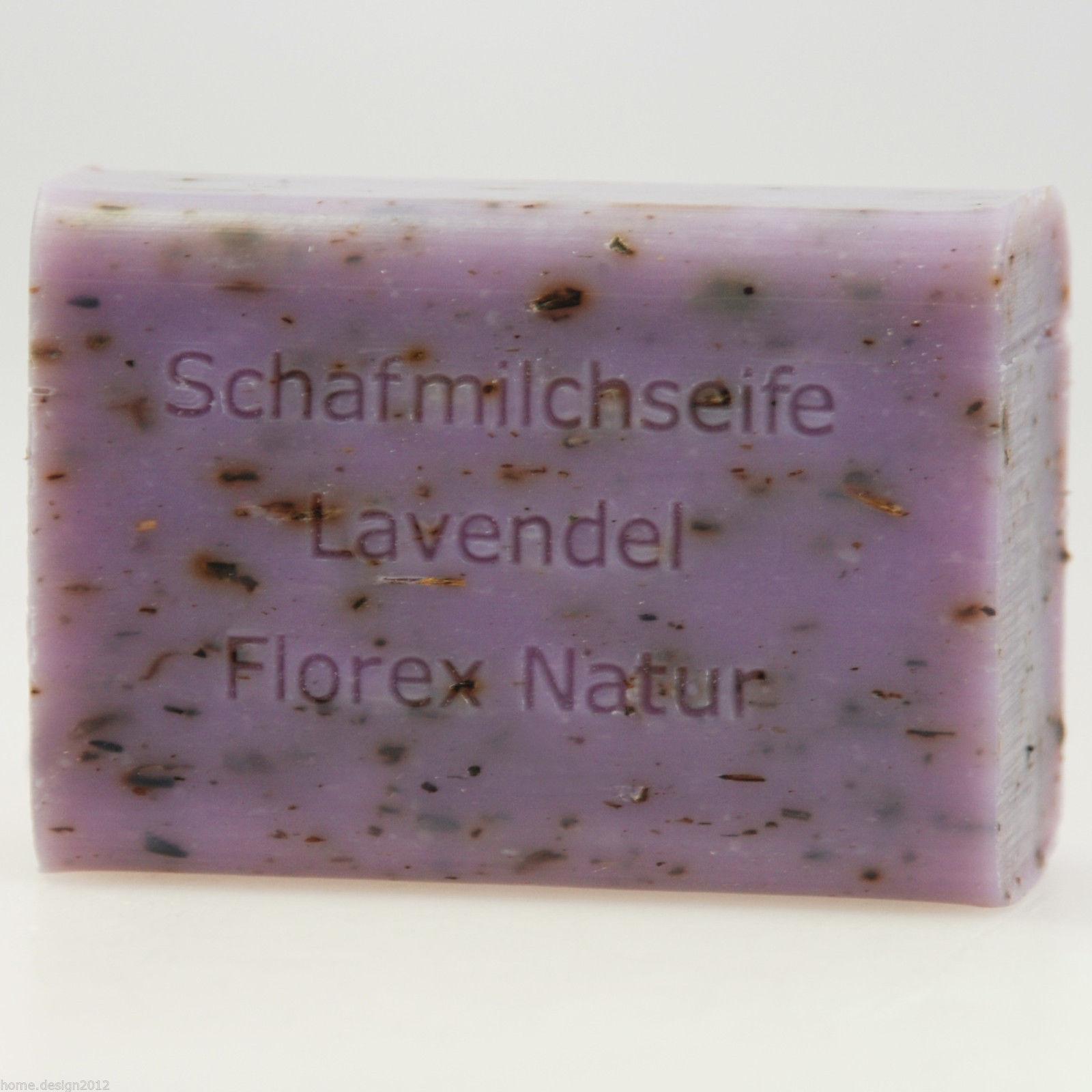 FLOREX Schafmilchseife 100 g Seife eckig Schafsmilchseife, verschiedene Düfte